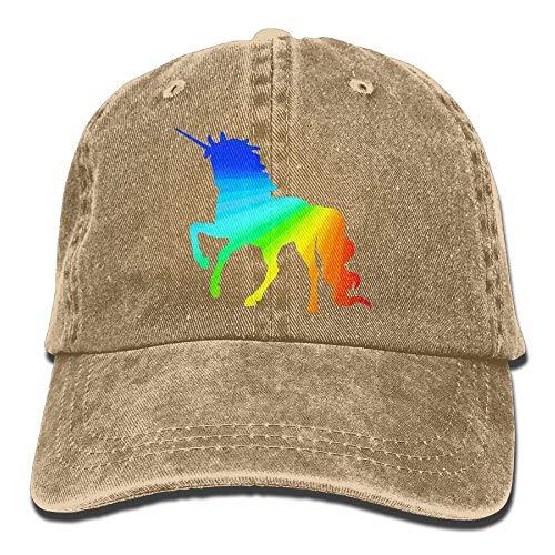 iqishengma Schöne Einhorn Homosexuell Prid Klassische Unisex Baseballmütze einstellbar gewaschen gefärbten Wattebausch Hut natürlich - Natürliche Einstellbare Hut