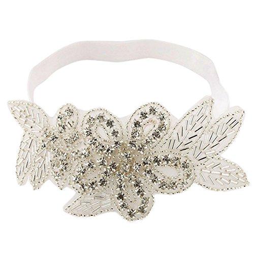 PIKABOO Bethany Beaded Headband - White