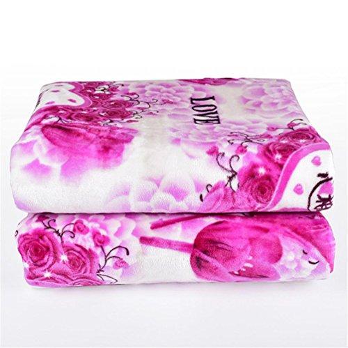 Preisvergleich Produktbild HAPPYMOOD Heizdecke Einzel- / Doppel-Size-Luxusbett Matratze Bettwäsche Bettwäsche 150cm * 180cm erhitzt waschbar Heizdecke werfen unter Decke