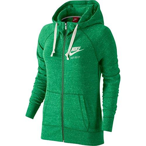 Leaf Zip Hoodie (Nike W NSW Gym VNTG Damen Sweatshirt Hoodie FZ, , bunt - Grün - (Spring Leaf/Sail), L)