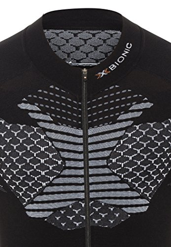 X BIONIC twyce Short Full Zip, Fahrrad Trikot Herren schwarz/weiß