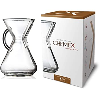 Chemex 10-Cup Coffee Maker with Glass Handle