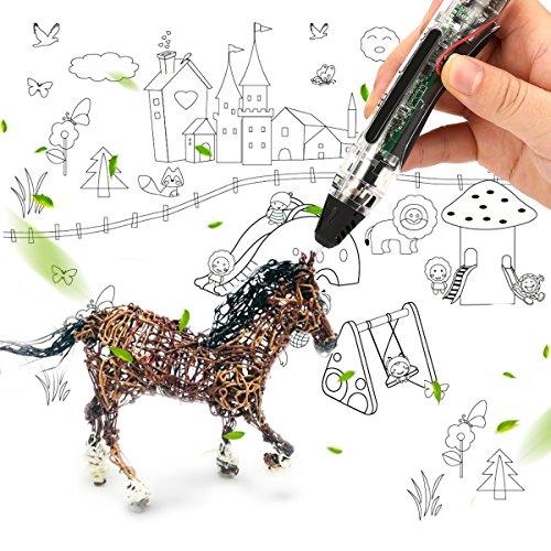 FUNTOK 3D Stift Printing Pen Printer Pen Druck Intelligente Niedrigen Temperatur 3D Stift Beste DIY Geschenk für für Kinder und Erwachsene - 7