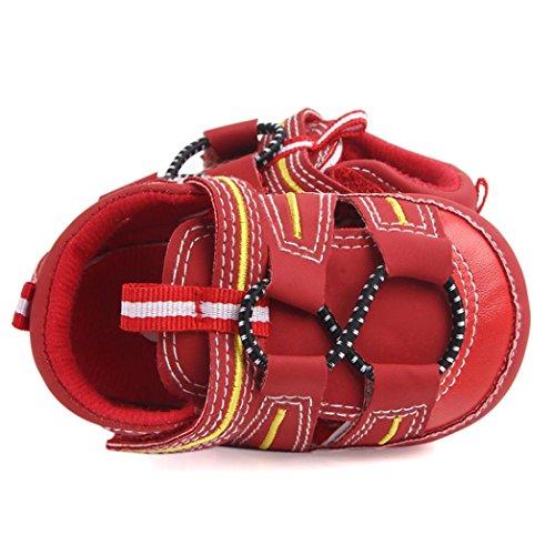 Pour 3-12 mois Bébé Garçon,Transer ® Chaussures d'été mignons de bébé de garçon doux semelle anti-dérapante sandales Rouge
