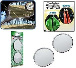 Motoway Blind Spot Convex Rear View Mirror For Maruti Suzuki Zen Estilo