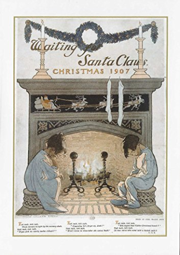 Vintage Bild Waiting for Santa Claus Weihnachtsmann Kinderlied 1907-Jessie Wilcox Smith Weihnachten Karte