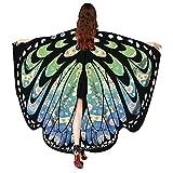 VEMOW 2018 Neue Mode Frauen Weihnachten Karneval 168 * 136CM Flügel Kostüm Schmetterling Flügel Schal Schals Poncho Kostüm Zubehör (Grün, 168X136CM)