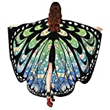 saymany Christmas Big Butterfly Print Shawl Women Schals Poncho Kostüm-Accessoire Karneval Cosplay