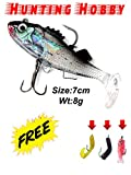 #6: Curly Tail Fish With Hook Free Soft Lures Use In Fishing Rod,Reel