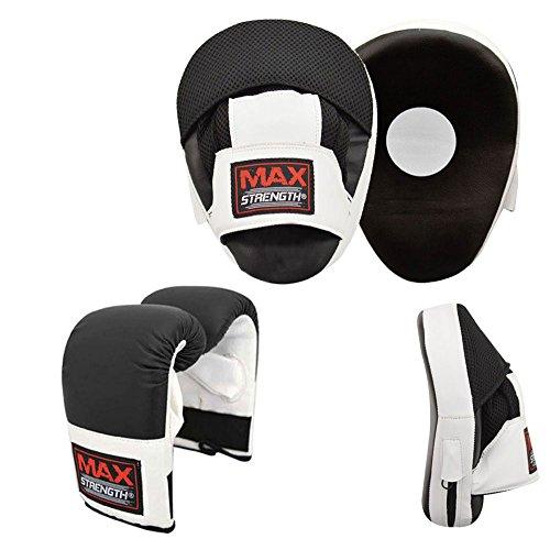 Unbekannt Verschiedene Kampf- ® Boxhandschuhe-Set mit Fokus Pads, Haken, Jab und Boxhandschuhe, Sparring, MMA-Training/Fitnessstudio Boxercis Focus Pad and Bag Mitts Junior Mitt-set