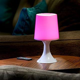 Auraglow Kabellose LED-Lampe mit Farbänderung Ferngesteuertes Batteriebetriebene Stimmungslicht