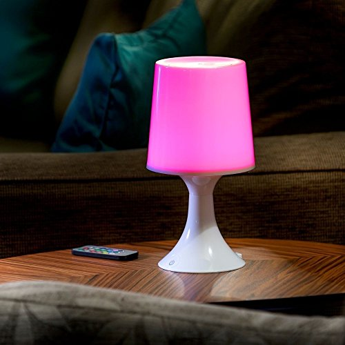 Auraglow Lumière d'Humeur LED Télécommandé Sans-fil à Couleurs Changeantes / Lampe de Bureau et Chevet USB