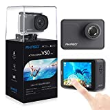 AKASO Action Cam V50 PRO Ultra HD 4K/30fps 20MP Action Kamera mit Touchscreen, 30m Unterwasserkamera...