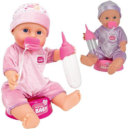 Unbekannt New Born Baby 30 cm mit Trink- und Nässfunktion • 30cm Puppe WC Funktions Puppen Näss Spielzeug