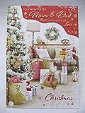 Unbekannt Große Gorgeous to a Wonderful Mum & Dad Grußkarte Weihnachten