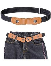 Kajeer Cinturón elástico para niños sin hebilla - Cinturón invisible ajustable para 50-81 cm para niños de 2 a 15 años