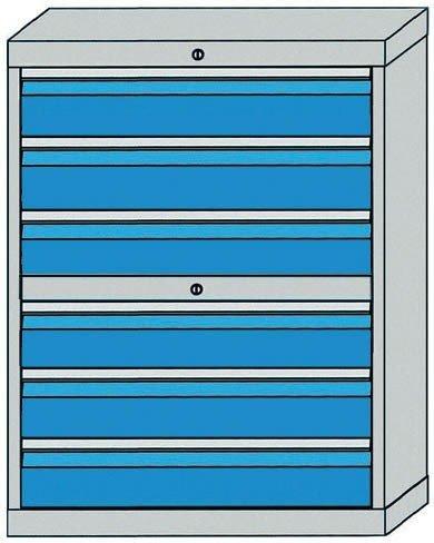 Schubladenschrank Serie 500 mit 6 Schubladen und 2 seperaten Schlössern Schubladenschränke Breite...