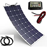 Spark - Panneau solaire souple durable 100W composé de cellules Back-Contact - Kit de chargement pour camping-car, caravane, bateau ou yacht