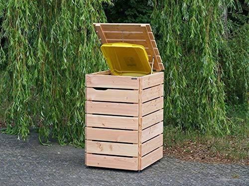 1er Mülltonnenbox / Mülltonnenverkleidung 240 L Holz, Douglasie Natur - 2