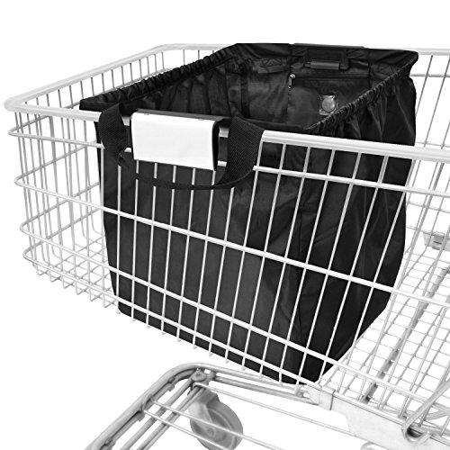 achilles Easy-Cooler, Faltbare Einkaufswagentasche mit Kühleinsatz, Einkaufstasche passend für alle gängigen Einkaufswagen, schwarz, 54x35x39 cm