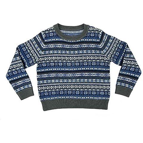 Per bambini e bambine, motivo: Fair Isle-Maglione di lana Blend-Made in Scotland by Glen Appin