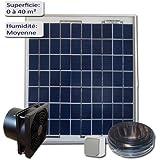 Kit de ventilation solaire 7W 12V - VMC - Extracteur 160m3/h …
