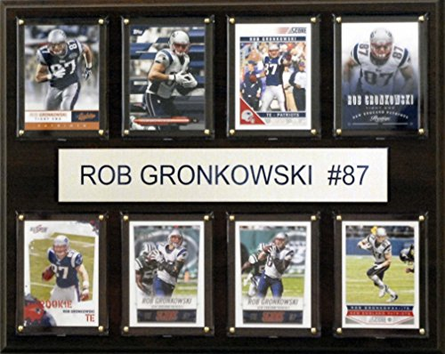 C & I Collectables NFL New England Patriots Rob Gronkowski gefaltet Plaque, 12 x 15 Zoll, Braun