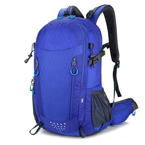 Zaino Da Arrampicata Impermeabile All'aperto Sport Escursionismo Escursionismo Bagaglio Di Regolazione,Black Blue