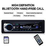 JuneJour Autoradio mit Bluetooth Freisprechung ISO/12pin Auto-Multimedia-Player...