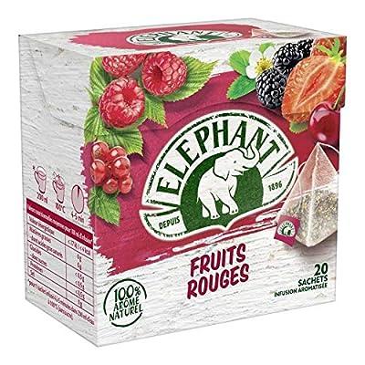 Elephant Infusion Fruits Rouges 3X36G - Vendu par pièce - Livraison Gratuit en France