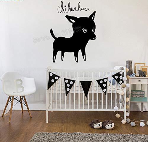 Schöne Hund Wandaufkleber Chihuahuas Tapete Dekoration Für Wohnzimmer Schlafzimmer selbstklebende Vinyl Kunst Decals 42x57 cm