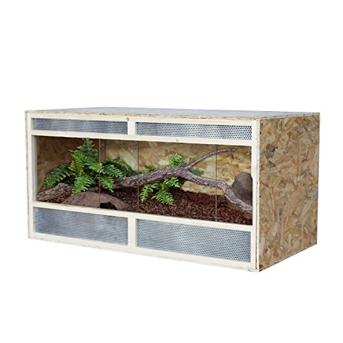 PawHut D5-0005 Holz Terrarium OSB Platten Amphibien Reptilien, natur
