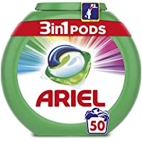 Ariel 3en1 Pods - Detergente En Cápsulas, Color & Style, Limpieza Increíble, Limpia, Quita Manchas, Ilumina - 50Lavados