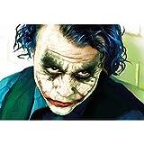 GREAT ART Affiches Joker de décoration Murale Heath Ledger Batman The Dark Knight Le Film du Clowns Gotham Le méchant de DC Comics DC Universe | Mur Deco Poster Mural Image by (140 x 100 cm)