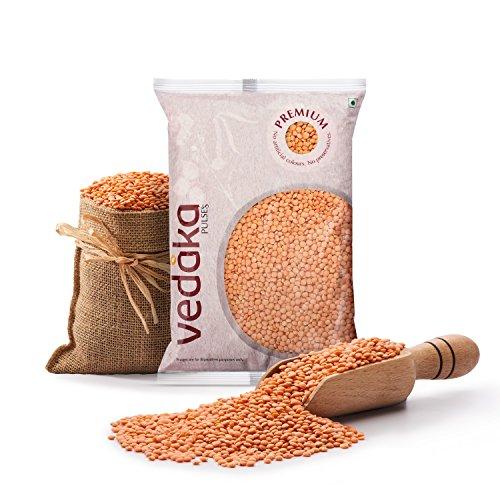 Amazon Brand – Vedaka Premium Red Masoor Whole, 1kg