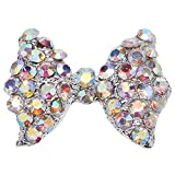 10x 3D Pink Alloy Rhinestone Bow Tie Butterfly Nail Art tip Glitter Decoration...