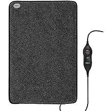 oneConcept Magic-Carpet DX • Heizmatte • Heizteppich • elektrisch • 100 Watt • 3 Heizstufen • Timer Funktion • 60 x 40 cm • geringer Stromverbrauch • strapazierfähig • Bezug waschbar • grau