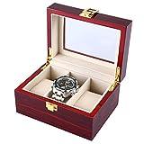 L.HPT 3 Gitter Hölzerne Uhrengehäuse Transparente Abdeckung Schmuck Box Organisator Hochwertige Uhr Display-Box