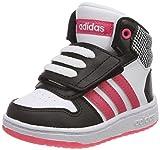 adidas Unisex-Kinder Hoops MID 2.0 Fitnessschuhe, Schwarz (Negbás/Rosrea / Ftwbla 000), 25 EU