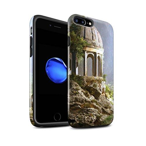 Officiel Elena Dudina Coque / Brillant Robuste Antichoc Etui pour Apple iPhone 8 Plus / Pack 17pcs Design / Fantaisie Paysage Collection Oublié Temple