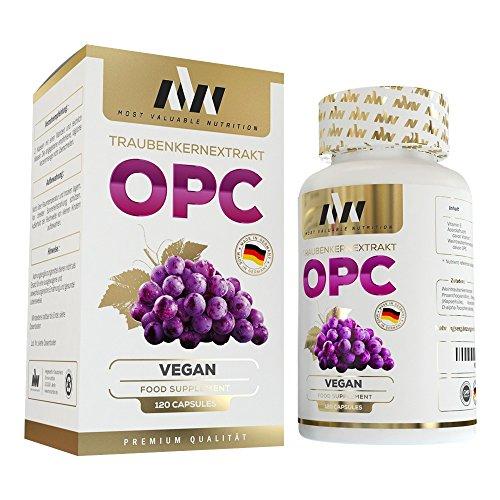 MVN OPC Traubenkernextrakt Kapseln Hochdosiert | Vegan | 700 mg reines OPC + natürliches Vitamin C & E