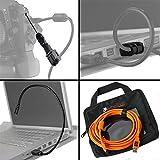 Tether Tools Starter Tethering Kit mit 1x USB 2.0 an USB 2.0 Mini-B5 Datenkabel (orange), 2x JerkStopper Zugentlastungsvorrichtungen und 1x Transporttasche