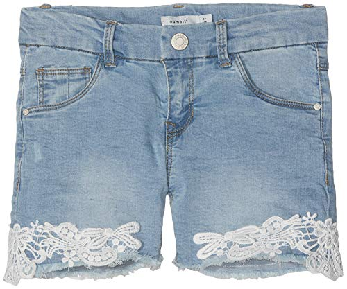 NAME IT Mädchen NKFSALLI DNMBATIRA 2183 Shorts, Blau Medium Blue Denim, (Herstellergröße: 164) - Mädchen Jeansshorts