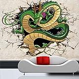 WLPBH Murale 3D Papier Peint Autocollant (W) 450X (H) 300Cm3D Dragon Photo Papier Peint Dragon Ball Papier Peint Japonais Anime Peinture Murale Garçon Enfant Chambre Chambre Décoration