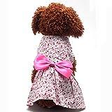 #9: Generic Pet Dog Dress Skirt Cat Bow Princess Clothes Apparel Female Costume Pink L