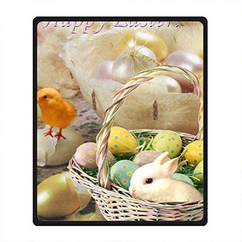 DOUBEE Fleece Decke Ostern Easter Pattern Blanket Kuscheldecke Wolldecke 127cm X 152cm (Aus Gefärbt Fleece)