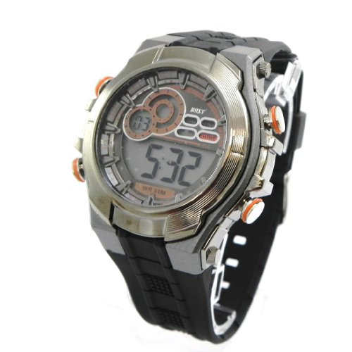 Wrist-watch-sport-Busy-orange-gray