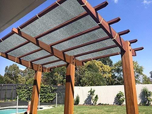 E.enjoy Sichtschutznetz Schwarzes Sunblock-Gewebe-Seil-UV-beständiges Patio-Pergola-Überdachung (größe : 400cm x 600cm) -