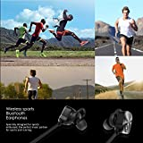 Wireless Headphones, Mpow Bluetooth 4.1 Earphones Headsets IPX7 Lightweight Sports Earbuds Running Headphones with Mic, Stereo Sound for WorkOut Gym Exercise for iPhone Samsung Huawei LG (CVC 6.0 Noise Cancelling, Non-magnetic Control, Black) Bild 6