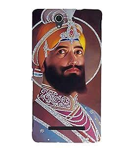 Guru Gobind Singh Ji Hard Polycarbonate Designer Back Case Cover for Sony Xperia C3 Dual :: Sony Xperia C3 Dual D2502